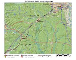 Ozarks Map Southwest Trail Route