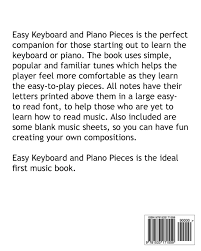 Three Blind Mice Notes For Keyboard Amazon Com Easy Keyboard And Piano Pieces 30 Easy To Play Pieces