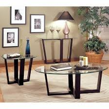 Black Glass Side Table Alexis Black Glass Coffee Table Set Steal A Sofa Furniture