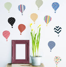 children s hot air balloon wall stickers by oakdene designs children s hot air balloon wall stickers