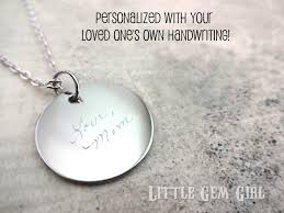 custom handwriting necklace handwriting necklace responsiveprojects