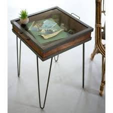 long table for living room extraordinary wood and iron end table recycled metal showcase accent