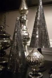 christmas antique mirror trees and mercury glass trees