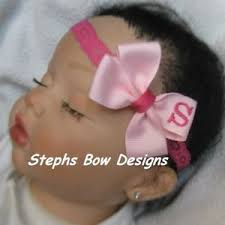 monogram headband soft pink shock pink a z monogrammed personalized hair bow