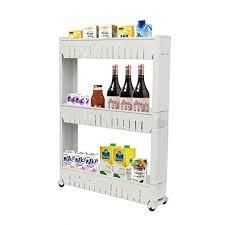 narrow storage cabinet for kitchen zhch slim storage cabinet 3 tier with 4 wheels sliding