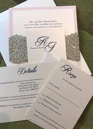 blush and gold wedding invitations blush gold glitter invitation laser cut glitter wedding