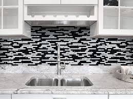 White Backsplash Tile For Kitchen Black And White Kitchen Backsplash Ideas Outofhome