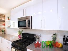 Discount Vancouver Kitchen Cabinets Kitchen Cabinets Vancouver 05 Dvk Glossy White Flat Plywood Box