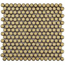 Best 25 Penny Round Tiles by Merola Tile Hudson Penny Round Marine 12 In X 12 5 8 In X 5 Mm