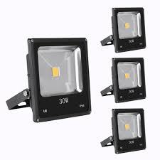 30w outside led flood lights warm white pack of 3 units le