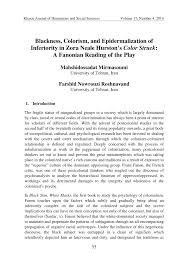 blackness colorism and epidermalization of inferiority in zora