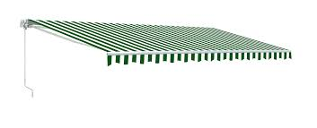 20 Ft Retractable Awning Retractable Patio Awning Green And White Striped Aleko