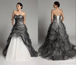 black and white wedding dress discount 2015 fashion black and white wedding dresses plus size
