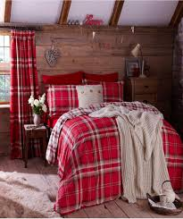 easy care tartan duvet set catherine lansfield modern bedding with
