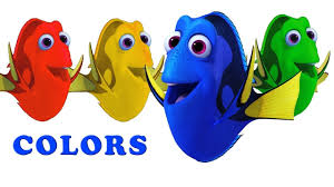 toddler kids learn teach colors with animals cartoon nemo fish