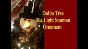 Dollar Tree Christmas Lights Diy Dollar Tree Snowman Tea Light Ornament Youtube
