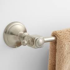 vintage towel bar bathroom