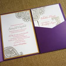 henna invitation henna inspired letterpress wedding invitations