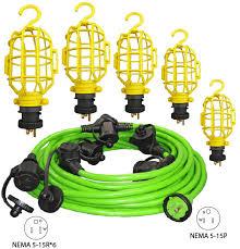 conntek png312 50g n glow 50ft multi outlet string light set
