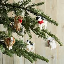 Christmas Ornaments Dogs Hand Knit Dog Ornaments Puppy Ornament Handmade Christmas