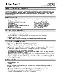 Resume Sample For Doctors by Medical Laboratory Assistant Resume Template Premium Resume