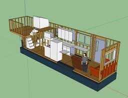 Design House Layout by Tiny House Layout Has Master Bedroom Over Fifth Wheel Hitch With