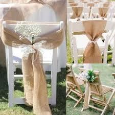 Vintage Wedding Chair Sashes New 2ea Rustic Burlap Hessian Chair Sash Bow Rustic Vintage