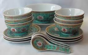 crockery vintage chinese dinner set was listed for r1 500 00 on