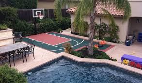 backyard basketball court flooring snapsports kids size backyard basketball court landscape