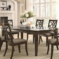 Coaster Dining Room Sets Meredith 7 Pc Dining Table Set In Espresso Finish By Coaster 103531