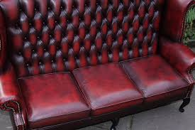Red Chesterfield Sofa For Sale by Oxblood Red Leather Chesterfield Sofa Suite Settee Couch For Sale