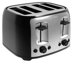 4 Slice Bread Toaster Black U0026 Decker 4 Slice Toaster Walmart Canada