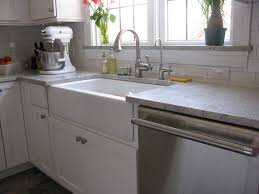 Stainless Steel Apron Front Kitchen Sinks Apron Front Sink With Backsplash In Exlary Farmhouse Concrete