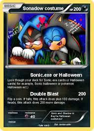 Sonic Shadow Halloween Costume Pokémon Sonadow Costume Sonic Exe Halloween Pokemon Card
