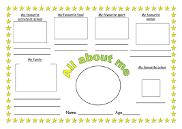 all about me activity worksheet by redclare1001 teaching