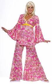 Halloween Hippie Costumes Womens Pink Flower Power Hippie Costume Costumes