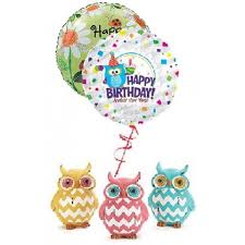 owl balloons birthday flowers occasions