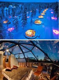 sleep under the northern lights sleeping in an igloo hotel in finland imagine the stars at night