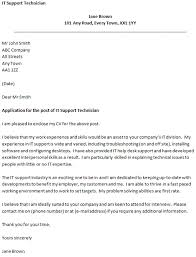 ideas collection cover letter for it technical support also