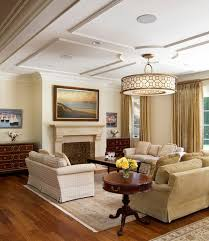living room with graceful and understated ceiling and lovely