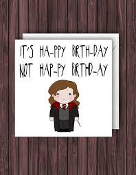 Harry Potter Bathroom Accessories Happy Birthday Ya Flithy Muggle Harry Potter Birthday Card