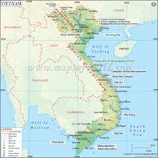 Physical Map Of The United States by Map Of Vietnam Vietnam Map