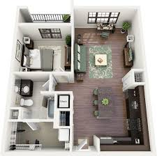 large 1 house plans house plans 1 bedroom apartt 3d floor homes zone