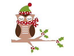 owl christmas christmas owl wall decal weedecor