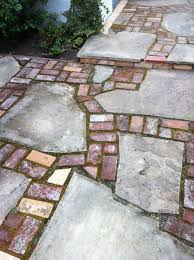 Reclaimed Patio Slabs Reclaimed Brick And Flagstone Patio Patio Ideas Pinterest