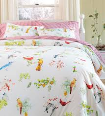 king watercolor songbirds quilt set collection accessories