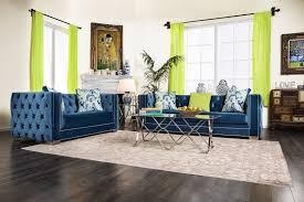Blue Sofa Set Modern And Stylish Living Room Design With Trendy Blue Sofa