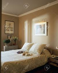 view of a cozy bedroom stock photo picture and royalty free image