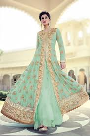 traditional indian floor length anarkali dresses collection for