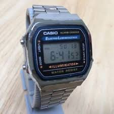 casio a168 vintage casio a168 steel band lcd quartz alarm chrono